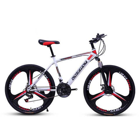 Bicycle Mountain Bike 24/27/30 Speed Mechanical Double Disc Brakes Adult  Variable Speed Off Road Damping Bicycle