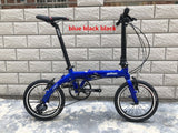 YNHON Folding Bike Aluminun Alloy 412 14/16 Inch Single-speed Outside Three-speed Kid Children's Bicycle Mini Modification