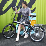Foldable bicycle women ultra light portable variable speed mini mini bike 20 inch adult adult adult male
