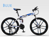 Mountain Bike Folding Bicycle 26 inch Speed Off-road Double Shock Absorbing Racing Student Adult Men And Women