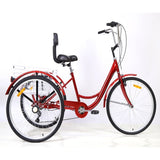 20/24 / 26inch tricycle outdoor riding Pedicab shopping tricycle touring bike