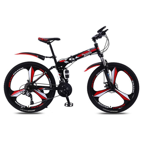 Sports and Entertainment Bicycle Folding Mountain Bike Speed Double Shock Absorber Male and Female Adult Mountain Bike