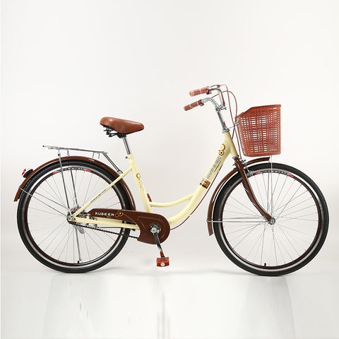KUBEEN Women Bike Adult Retro City Student Bicycle Drum Brake Bicycle For Woman bisiklet bicicleta bicicletas