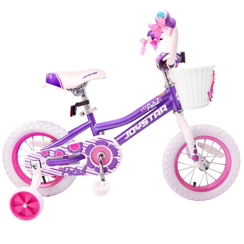 JOYSTAR Totem Series 14 inch Girl's Kids Bike Pink and Purple Children Bicycle for Three to Six Aged Boy ride on toys