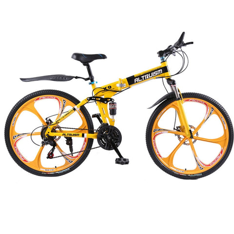 Altruism X9 26 inch folding bike aluminium frame mountain bike bicycles 21 speed disc brakes tall man MTB bikes 6 color bicycle