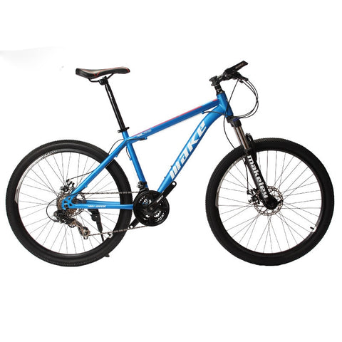 "MAKE Mountain Bike Steel Frame 24 Speed Shimano 26"" Wheel Mechanical Disc Brakes MTB"