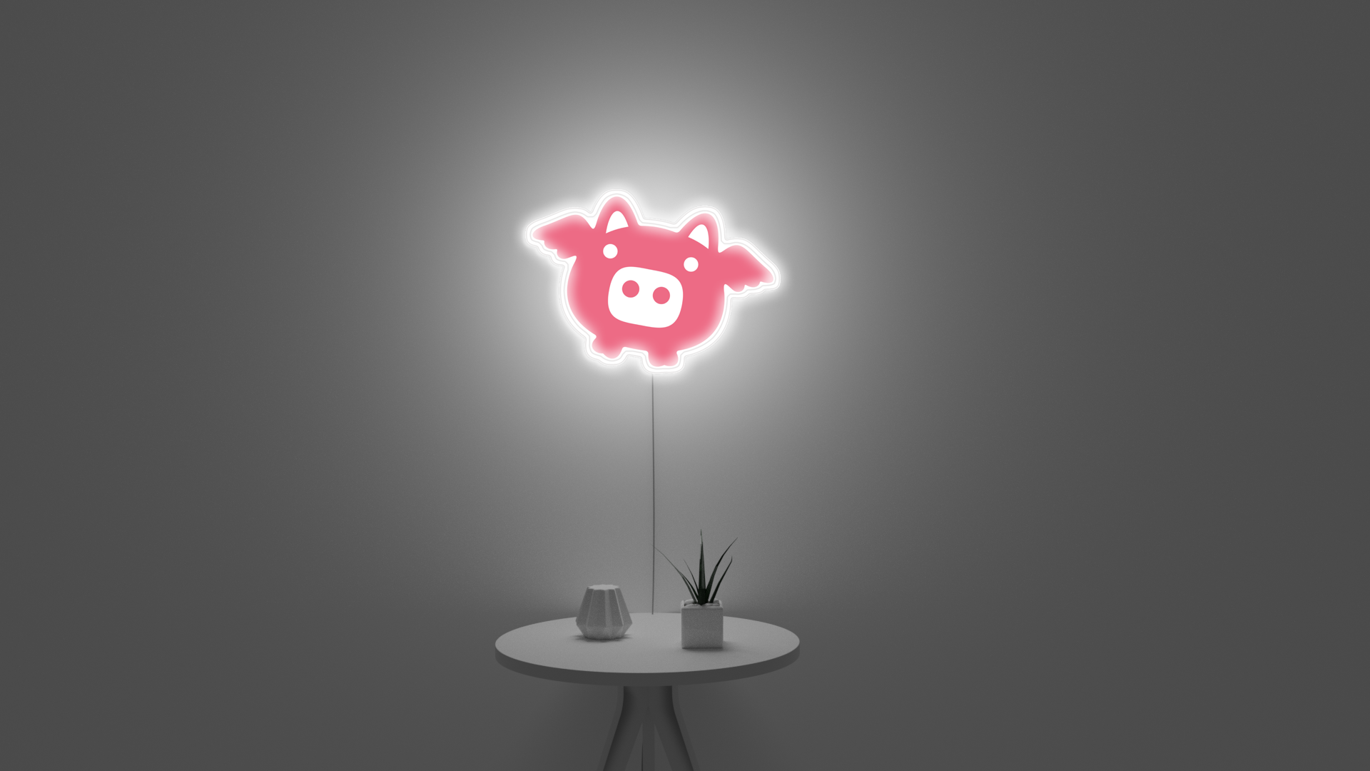 Flying Pink Pig wall decor