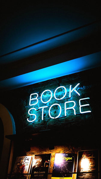book store neon sign