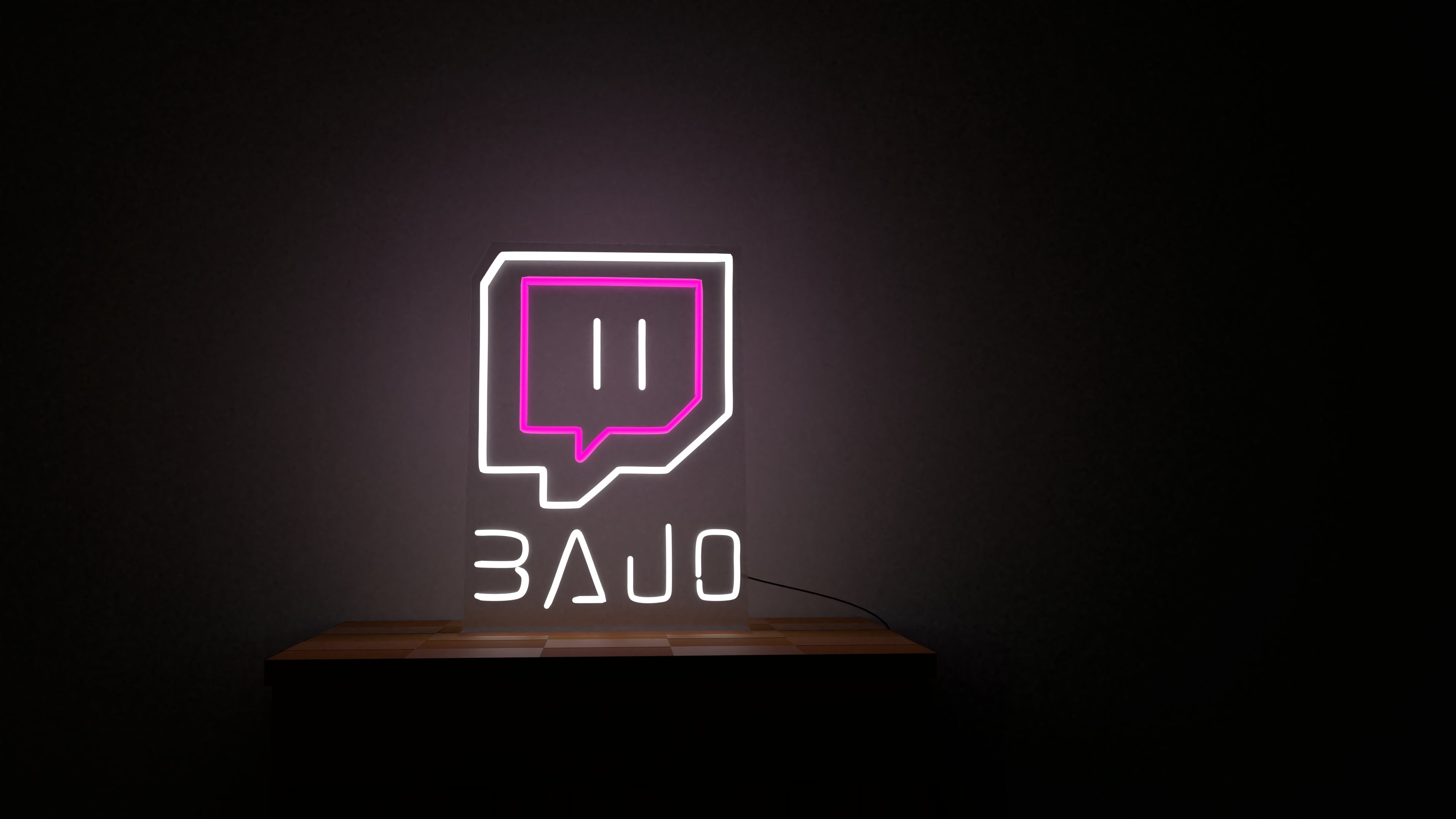 bajo twitch neon sign