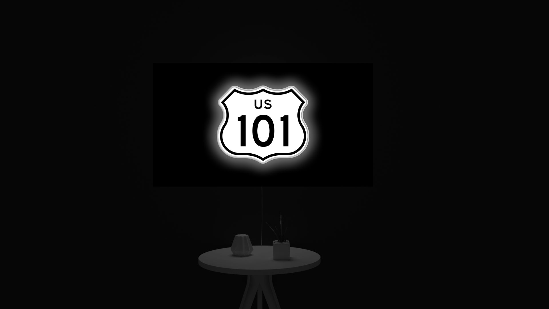 US Route 101 led light sign