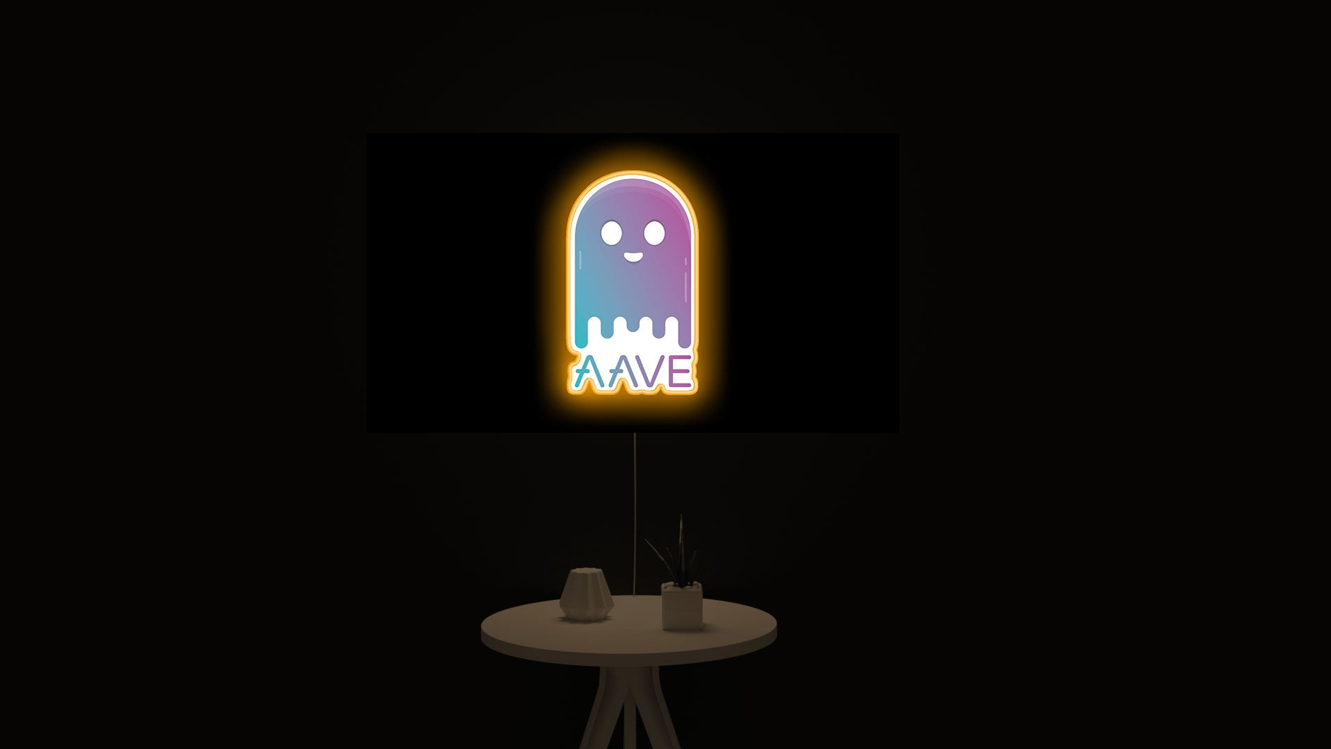"""AAVE """"LEND"""" Crypto led light sign"""