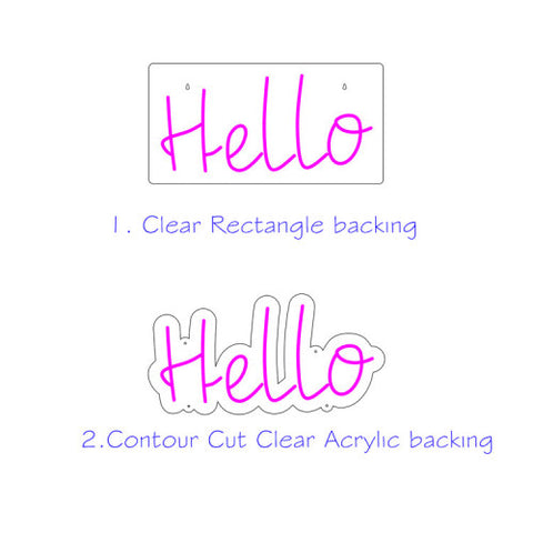 backing for neon personalized