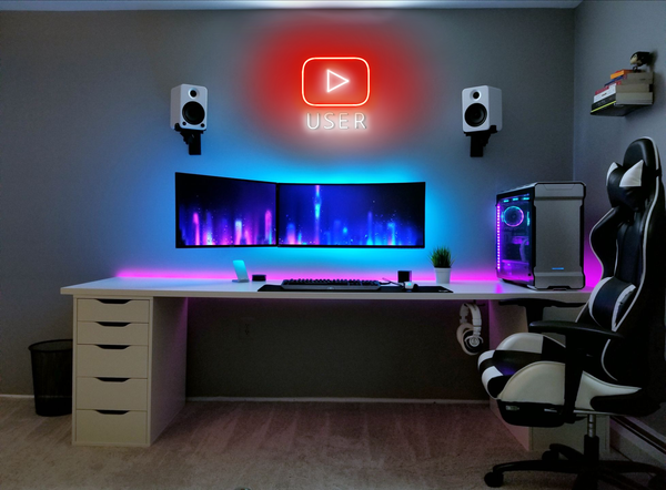 for youtube influencer home deco neon