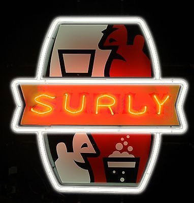 Surly neon sign