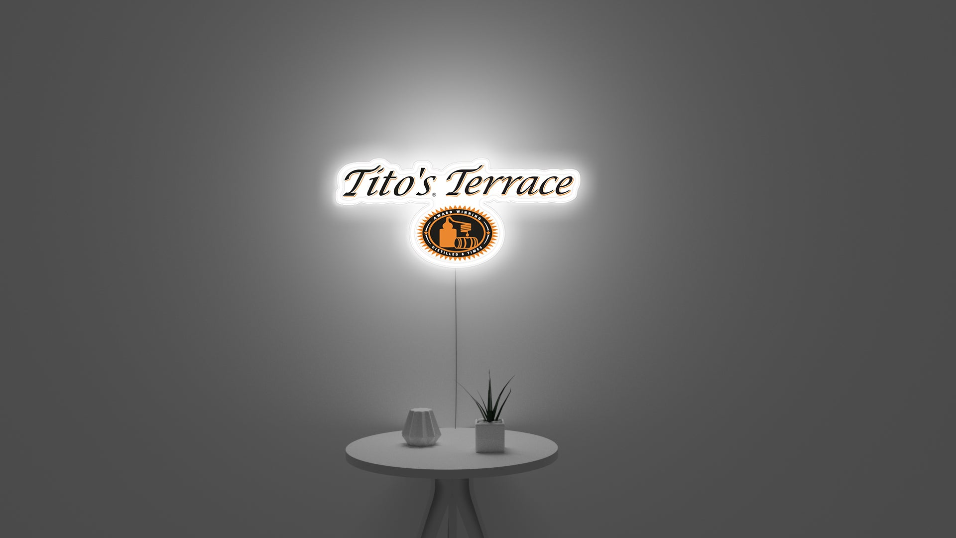 tito's led neon wall sign for bar