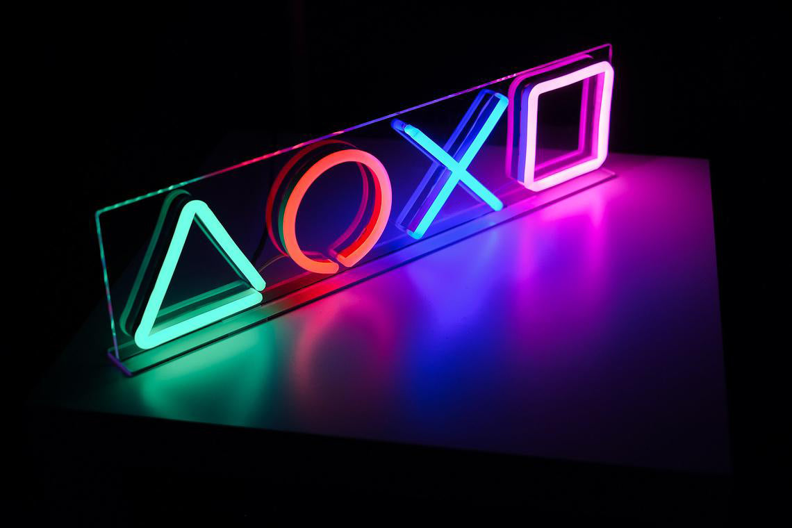 playstation neon sign