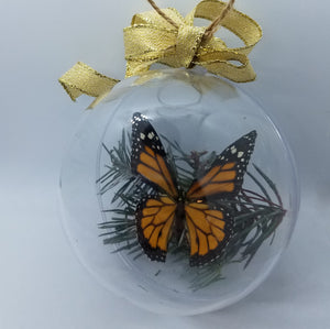 Real Monarch Butterfly Christmas Ornament for sale