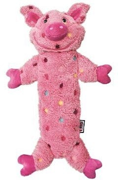 KONG Low Stuff Speckles Pig Dog Toy