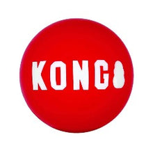 Load image into Gallery viewer, KONG Signature Ball | kong ball | kong red ball | kong bouncy ball | indestructible dog ball | designed for determined chewers | eco friendly dog toys | monty's dog store | ultra durable | bouncy balls | fetch and retrieve dog games |
