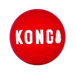 KONG Signature Ball | kong ball | kong red ball | kong bouncy ball | indestructible dog ball | designed for determined chewers | eco friendly dog toys | monty's dog store |