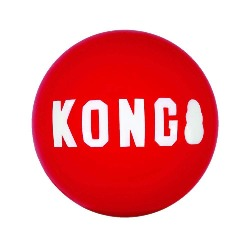 KONG Signature Ball | kong ball | kong red ball | kong bouncy ball | indestructible dog ball | designed for determined chewers | eco friendly dog toys | monty's dog store | ultra durable | bouncy balls | fetch and retrieve dog games |