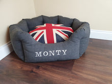 Load image into Gallery viewer, Deluxe Handmade Personalised Dog Beds