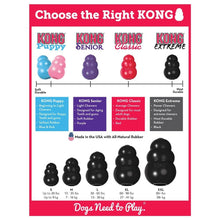 Load image into Gallery viewer, Choose the right kong | designed for determined chewers | extreme dog toy represents good value for dogs | Monty's Dog Store | indestructible dog toys | gold standard of dog toys for 40 years |