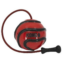 Load image into Gallery viewer, KONG Wavz Bunji Ball | Interactive Dog Toys | labrador dog toys | best dog toys | best fetch and retrieve dog toys | fetch dog toys | Kong dog toys | Bunji ball | ball on a rope | Red wavz bunji ball | Kong ball |