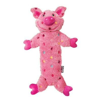 KONG Low Stuff Speckles Pig Dog Toy is perfect for entertaining your dog.