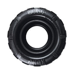 KONG Extreme Traxx Tyre Dog | extremely tough dog toy | eco friendly | virtually indestructible | designed for determined chewers | KONG gold standard of dog toys | Monty's Dog Store |