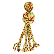 Load image into Gallery viewer, KONG Wubba Weaves with Rope | kong wubba | wubba weaves with rope | wubba weaves kong | eco friendly dog toys | indestructible dog toys | tough dog toys uk | warrington dog store | dog stores warrington | pet shops warrington | pet shops near me | best dog toys | best tough dog toys | monty's dog store | cheshire pet shops |
