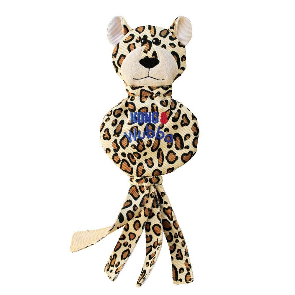 KONG Wubba No Stuff Cheetah has been a great addition to Monty's Dog Store. KONG toys are virtually indestructible, and are designed for determined chewers. KONG has been setting the standard of dog toys for 40 years.
