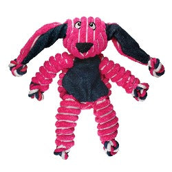 KONG Floppy Knots Bunny offers a strong and robust challenge to stimulate your dog's desire to chew and chase. KONG toys are virtually indestructible, and are designed for determined chewers. KONG has been setting the standard of dog toys for 40 years. A toy with a great reputation at Monty's Dog Store.