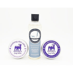 100% natural dog Soothing & Conditioning Shampoo - Oatmeal & Aloe Vera with nose skin & balm