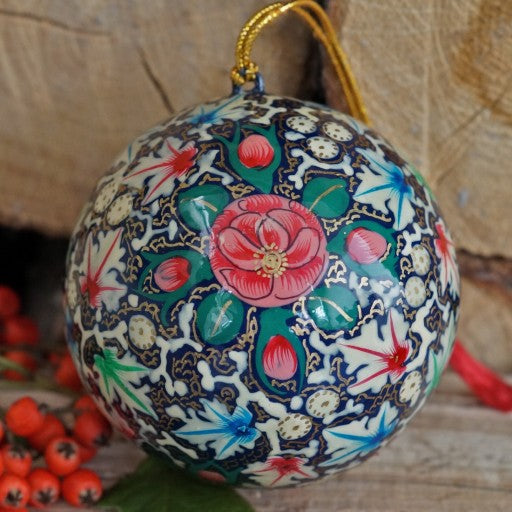 Indian Blue Floral Bauble