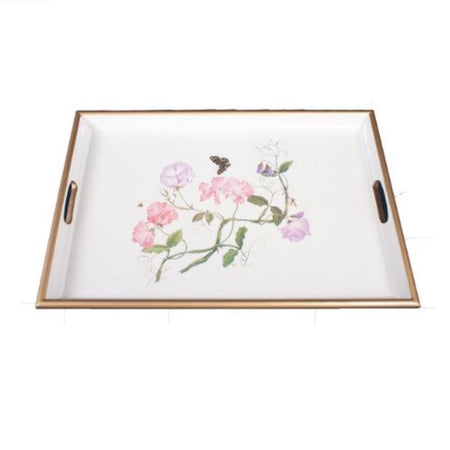 Sweet Pea Lacquered Tray