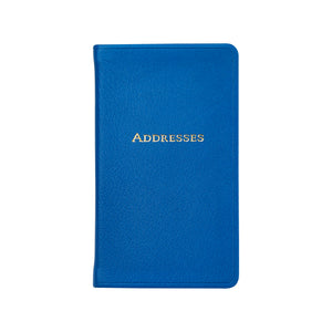 Small Mariton Blue Leather Address Book