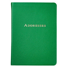 Load image into Gallery viewer, Large Green Leather Address Book