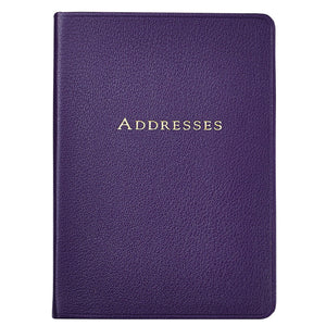 Large Aubergine Leather Address Book