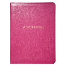 Load image into Gallery viewer, Large Pink Leather Address Book