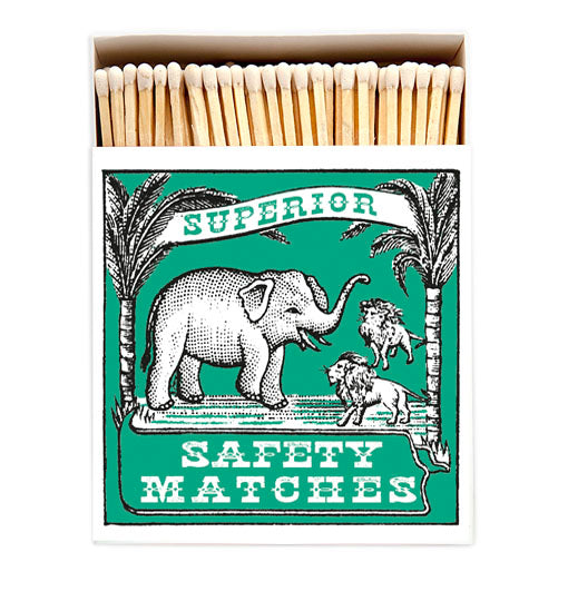 'Elephant and Lion' Luxury Matches