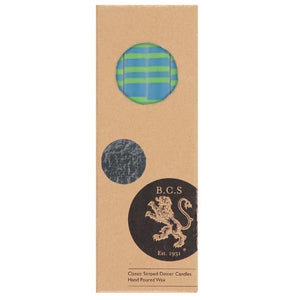 Nanking Blue & Grass Green Eco Dinner Candles, 4 Per Pack