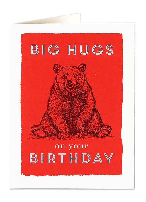 Big Hugs - Birthday Card