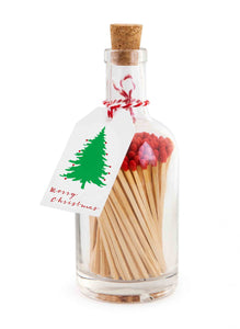 'Merry Christmas' - Glass Bottle of Matches