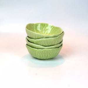 Mini Cabbage Leaf Bowl, Lime Green