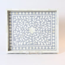 Load image into Gallery viewer, Inlay Decorative Rectangle Tray - Grey