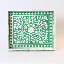 Load image into Gallery viewer, Inlay Decorative Rectangle Tray - Green