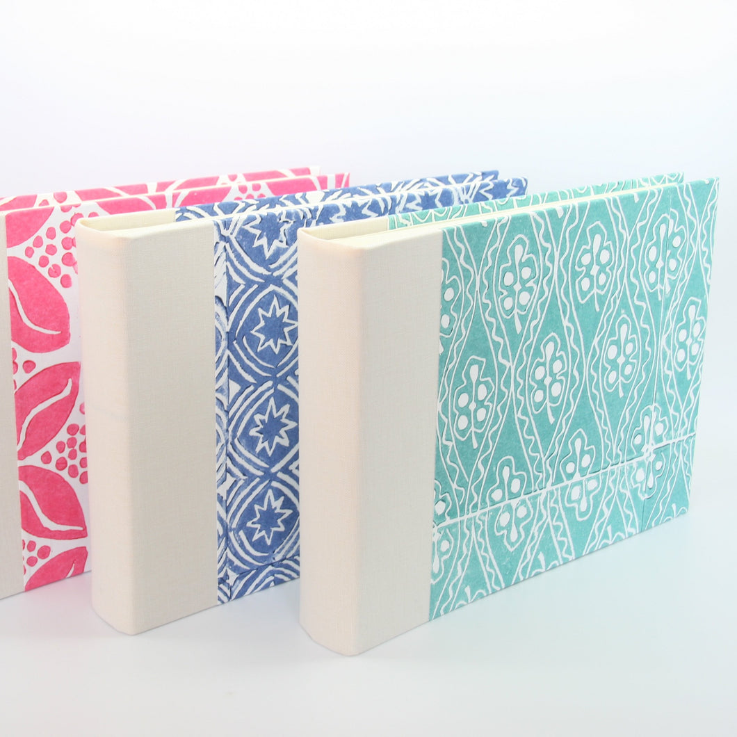 Aqua Handprinted Photograph Album