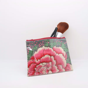 Charcoal Rose Make-Up Purse
