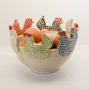 Chicken cut out ceramic bowl